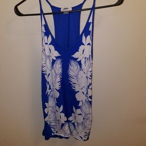 Old Navy Blue Floral Tank
